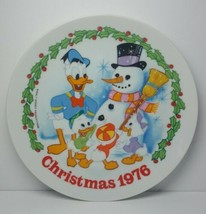 """Schmid Walt Disney's 1976 Christmas 8⅝"""" Plate  Donald Duck, Huey Dewey and Louie - $18.66"""