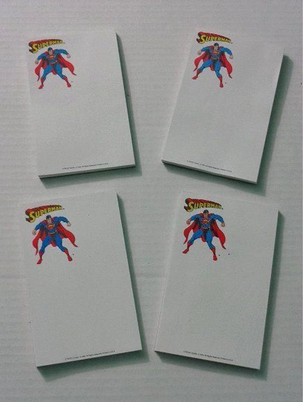Primary image for 4 Vintage original 1993 DC Action Comics Superman school supplies notepads: JLA