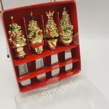 Ornament Tree Christmas Spreader Set 4 Boston Warehouse Stainless Steel ... - $9.41
