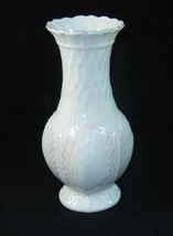 "Belleek Vintage 7.5"" Tall Pink Shell Vase - $15.80"