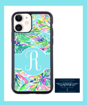 COLORFUL TROPICAL MONOGRAM INITIAL PERSONALIZED IPHONE 11CASE IP11/PRO/P... - $15.99