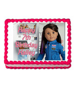 American Girl Luciana 2018 party edible cake image cake topper frosting ... - $7.80