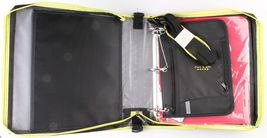 "NEW Five Star Zipper Binder + Tech Pocket, 2"", Yellow Black, 12-3/4"" x 12"" NWT image 3"