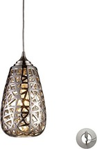 Elk Lighting 20064/1-LA Pendant Light, Chrome - $199.91