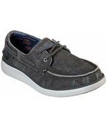 Skechers Wide Fit Black shoes Men's Memory Foam Boat Casual Canvas Comfo... - €36,16 EUR