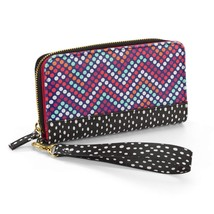 No Boundaries Ladies Flap Wallet Mix Match Dots W Wrist Strap NEW - €13,51 EUR