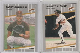 1989 (PADRES) Fleer Glossy #299 Roberto Alomar #300 Sandy Alomar Jr - $1.95