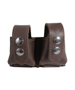 New Barsony Brown Leather Revolver Double Speed Loader Pouch .22 .38 .357 - $39.99