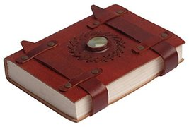 """TUZECH Handmade Pure Leather Diary Leather Journal With Paper - 7"""" Maroo... - $14.70"""