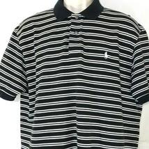 Polo by Ralph Lauren Polo Shirt Men Size XL Black White Striped - $24.73