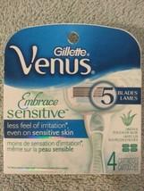 Gillette Venus Embrace Sensitive with Aloe 4 Cartridges with 5 blades each - $8.54