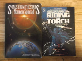 Paperback Lot Science Fiction Norman Spinrad Songs From The Stars Riding... - $11.99