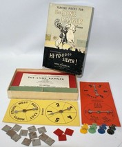 Vintage 1938 Parker Brothers THE LONE RANGER Hi-Yo Silver Game Parts wit... - $40.00