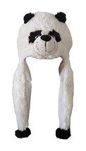 ZooPurrPets Unisex Plush Animal Hats with Poms - Warm, Soft, and Cozy Panda - $6.92