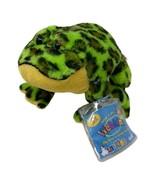 "GANZ Lil'Kinz Bullfrog Plush Green & Yellow Frog with Sealed Code 6"" Lon... - $8.99"