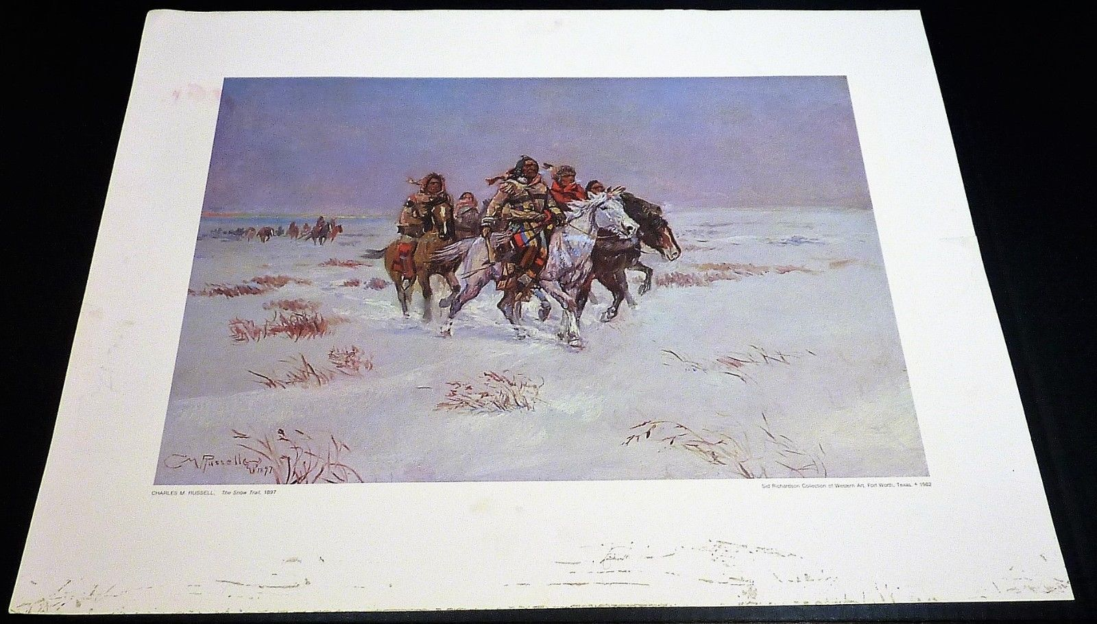 Primary image for The Snow Trail by Charles M. Russell Western Print No Frame