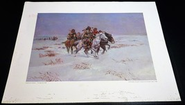 The Snow Trail by Charles M. Russell Western Print No Frame  - $47.40