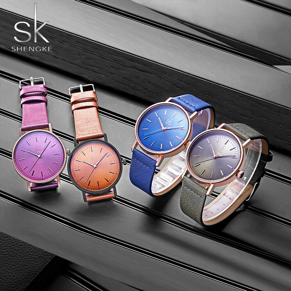 Primary image for SK® Watches Fashion Leather Women's Watch 4 Colors Lady Wristwatch Women's Watch
