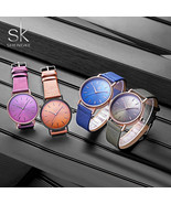 SK® Watches Fashion Leather Women's Watch 4 Colors Lady Wristwatch Women... - $26.07