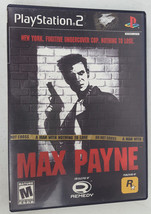 Max Payne 1 Playstation 2 PS2 Black Label Video Game Complete - $10.00