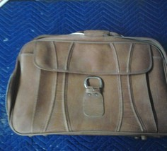 Finesse Brown Leather Suitcase 24 x 14 x 25 - $43.12