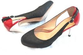 Giuseppe Zanotti 38 1/2 Tri color black red white Unique Pumps Shoes Hig... - €114,21 EUR