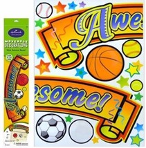 """AWESOME Hallmark Moveable Decorations Wall Stickers 17"""" x 24"""" Glow In The Dark - $5.61"""