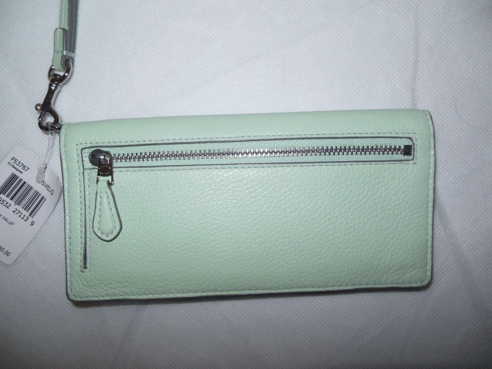 New Coach F 39706 mini Bennett Satchel Metallic Leather handbag Gunmetal