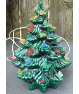 """Ceramic Christmas Tree 14"""" Tall with Butterfly Decorations - $40.00"""
