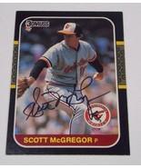 1986 Leaf Baltimore Orioles Scott McGregor Autographed Card - $2.50