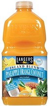 Langers Island Blend Juice Cocktail, Pineapple Orange Coconut, 64 Fluid Ounce Pa