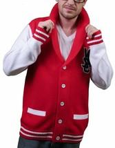 WeSC Hombre Massimo Punto Verdadero Rojo Cárdigan Suéter de Algodón Nwt image 2
