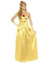 Smiffys Golden Princess Belle Beauty Fairytale Adult Halloween Costume 4... - $35.99