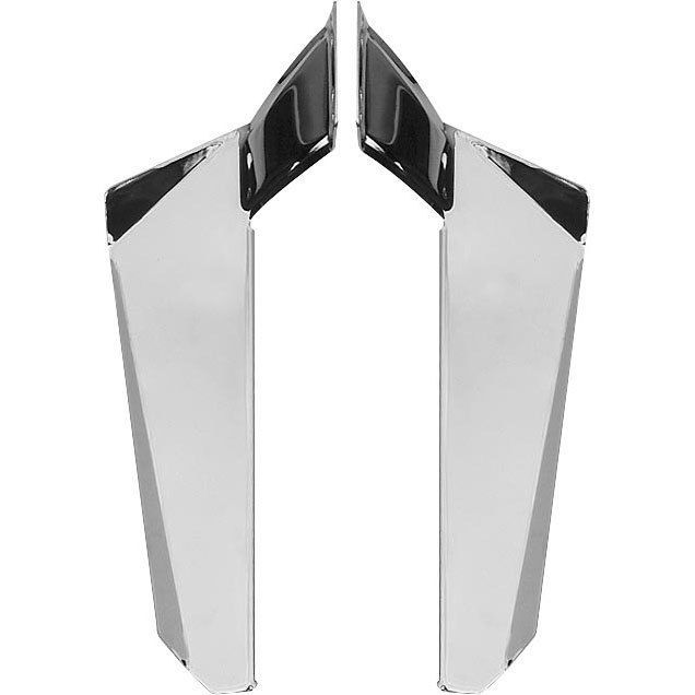 Chrome Lower Deflectors for Switchblade Windshield Kawaskaki  1600 Vulcan