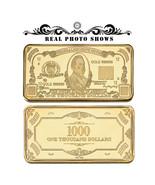 WR $1000 One Thousand Dollar Bill US Banknote Fine Gold Art Bar Collecti... - $4.49