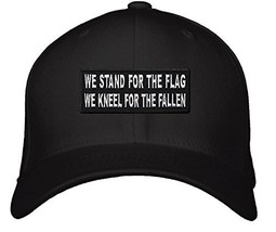 We Stand For The Flag We Kneel For The Fallen Hat - Adjustable Mens Blac... - $15.79