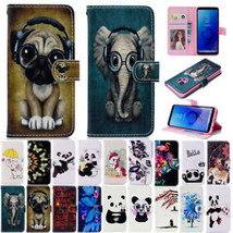 Painted Flip Leather Wallet Card Slots Case Cover For Samsung Galaxy Phones - $62.16
