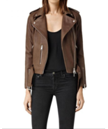 Women Stylsh Brown Studded Leather Formal Occasions Handmade  Jacket - $155.99+