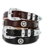Presidential Silver Star - Mens Italian Calfskin Designer Dress Belt 1-1... - $31.45