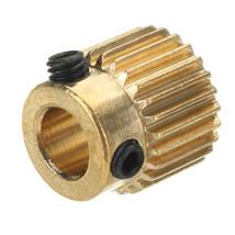 JGAURORA 26 Teeth 5mm Brass Extrusion Wheel Gear For 3D Printer - $10.99
