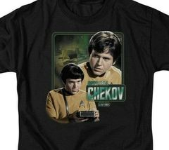 Star Trek T-shirt Pavel Chekov Retro 60's The Original Series graphic tee CBS569 image 3