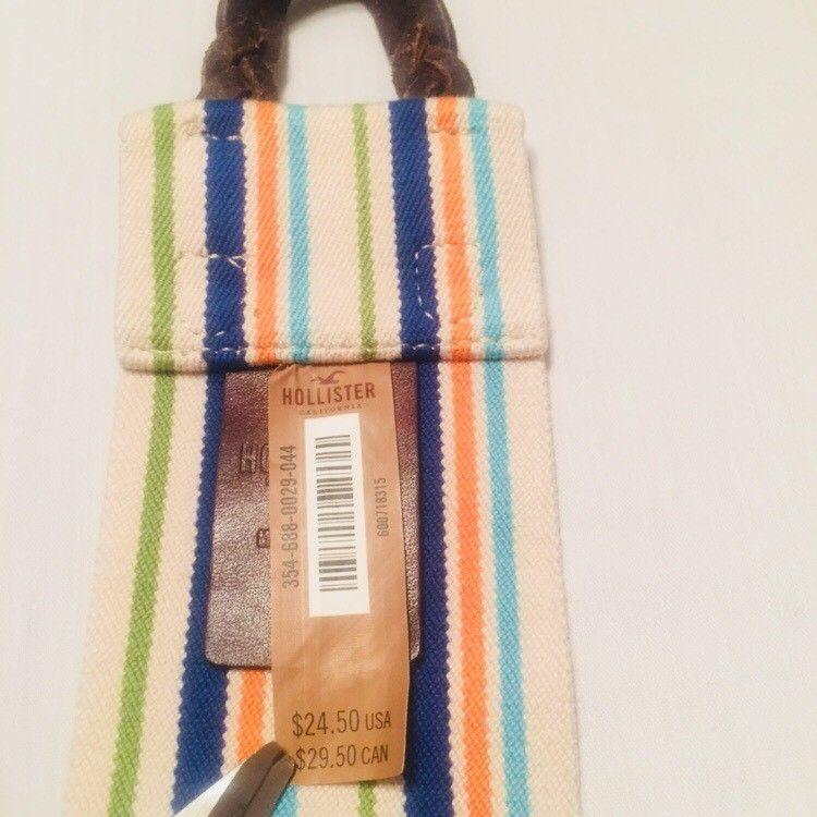Hollister striped belt size XS S Womens NWT Stretch