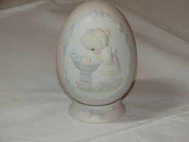 Precious Moments 529095 A Reflection of His Love egg with stand girl bir... - $39.54