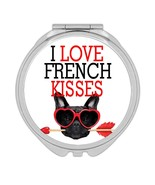 I Love French Kisses Bulldog : Gift Compact Mirror Dog Pet Funny Animal ... - £9.44 GBP