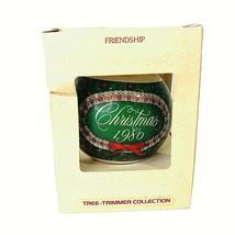 1980 Hallmark Glass Christmas Ornament FRIENDSHIP VTG In Box Trimmer Collection - $7.87