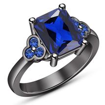 Flexible 1.05CT Emerald Sapphire Statement Anniversary Ring 14K Engageme... - ₨5,774.63 INR