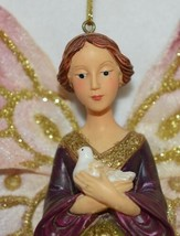 Sterling 5109018 Icicle Angel Holding White Dove Christmas Ornament image 2