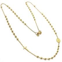 Halskette Rosenkranz Gelbgold 750 18K, Medaille Ideales und Überqueren S... - $765.27