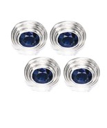 925 Sterling Silver Natural Fine Quality Blue Sapphire Gemstone Handmade... - $172.99