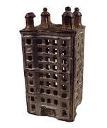 Antique Toy Cast Iron Sky Scraper Coin Bank Piggy Money - $89.95